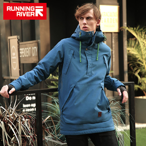 Image 1 - RUNNING RIVER Brand Men Snowboarding Hoodie 2018 High Quality Hooded Sports  Snowboarding Jacket 4 Colors 5 Sizes #A8028