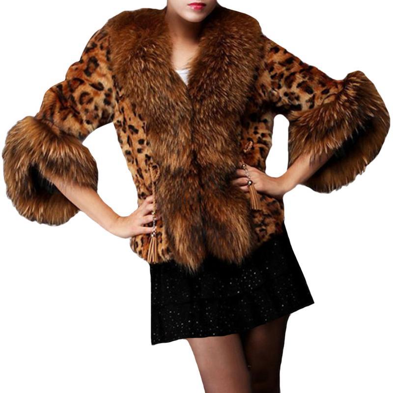 Coat Winter Women 11.11 Shopping Festival Autumn And Winter New Luxury Faux Fur Coat Leopard Print Faux Fur Coat Short Coat