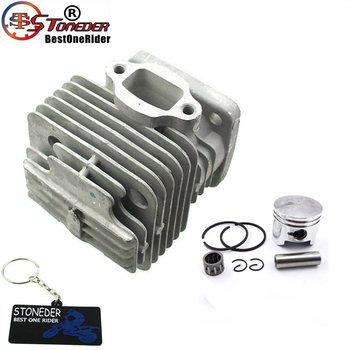 STONEDER 44mm Ported wydajność wyścigi blok otwór cylindra tłok dla 2 suwowy 47cc 49cc silnik Mini Moto Dirt motorynka ATV