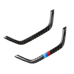 Image 1 - Dla BMW X3 X4 F25 F26 2011 2012 2013 2014 2015 2016 2017 z włókna węglowego wgłębienie klamki drzwi samochodu podłokietnik Panel do przechowywania ramka skrzyni pokrywa