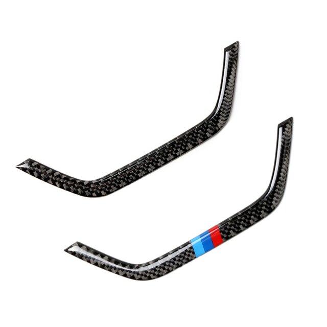 Dla BMW X3 X4 F25 F26 2011 2012 2013 2014 2015 2016 2017 z włókna węglowego wgłębienie klamki drzwi samochodu podłokietnik Panel do przechowywania ramka skrzyni pokrywa