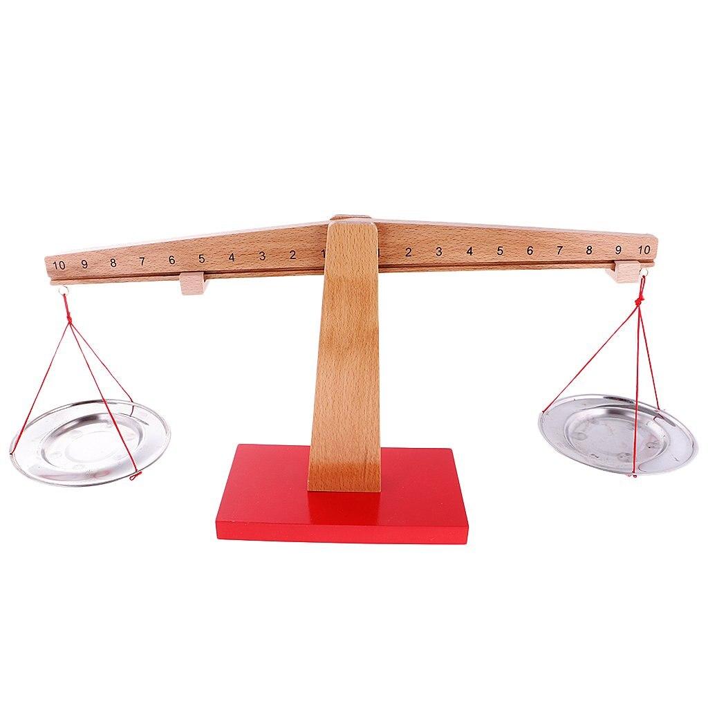 Montessori Sense Weight Balance Scale Game Math Mathematics Preschool Learning Toy Anniversary Christmas Gift for Children