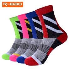 цена на R-BAO 2018 New Professional Brand Sport Outdoor Socks Breathable Hiking Bicycle Socks/Mountain Bike Socks/Racing Cycling Socks
