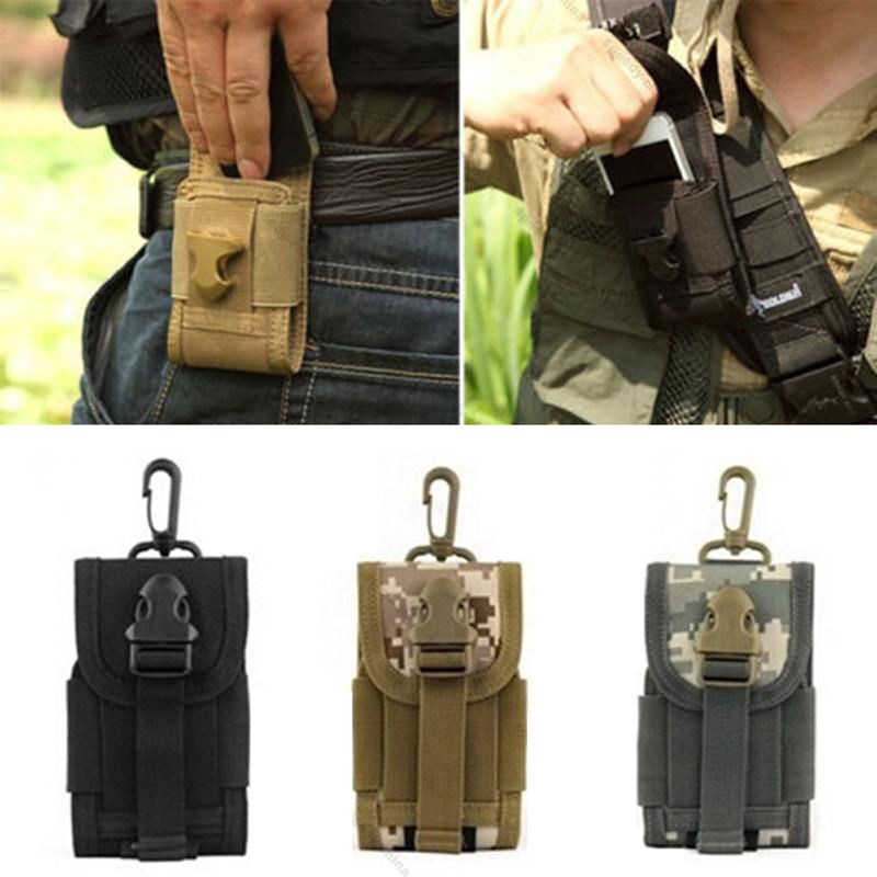 Climbing Bags Sports & Entertainment Useful Multifunction Outdoor Camping Hiking Tactical Phone Bag Men Camouflage Waist Bag Hook Loop Belt Pouch Oxford Cloth Mobile Case Low Price