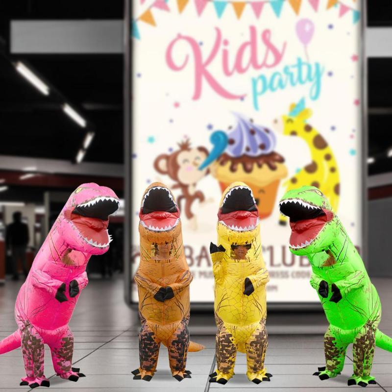 Costume de dinosaure gonflable enfants Costume de noël Halloween T Rex Animal combinaison Costume Cosplay pour enfants cadeau de fête d'anniversaire