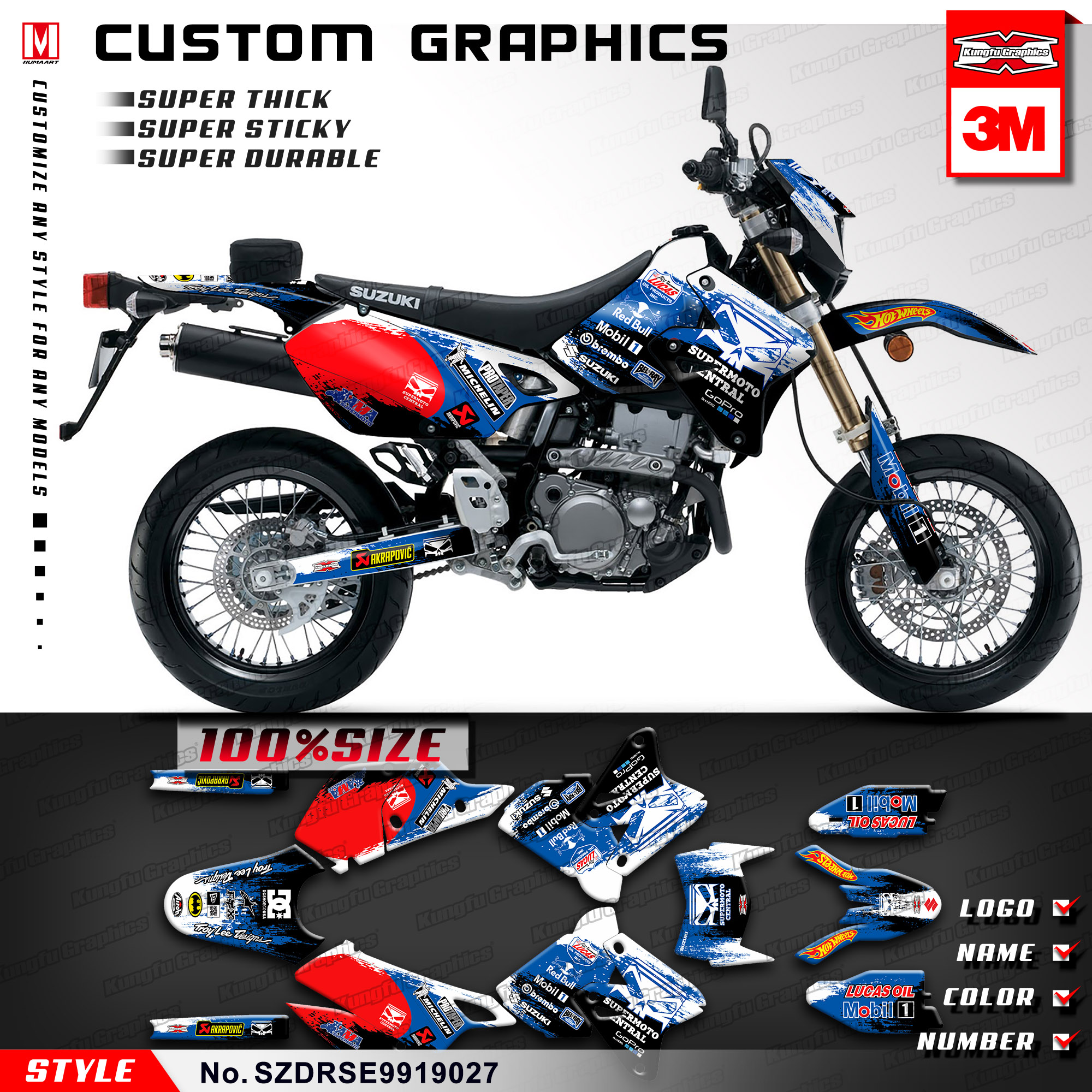 HUSABERG Graphics Kit Decals Design Stickers FS 450 550 650 2006 2007 2008 MX