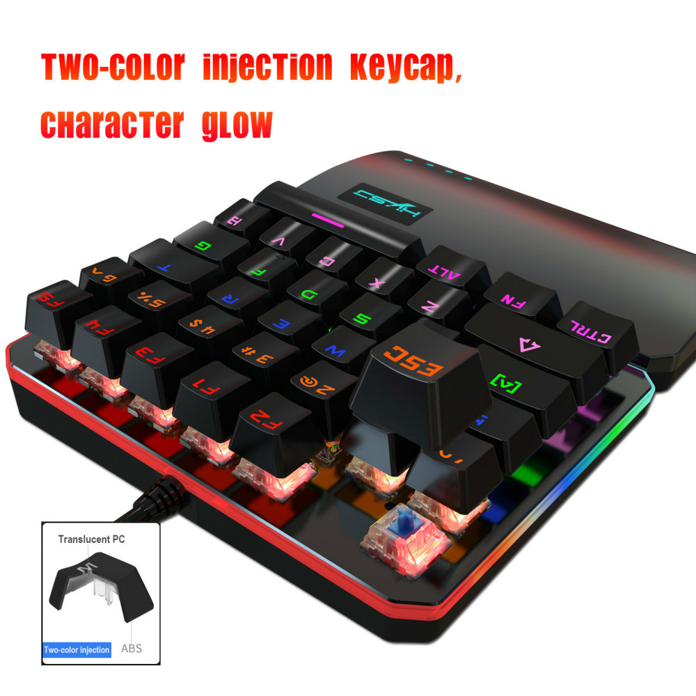 Image 4 - Mechanical Keyboard Standard Mini Wired Gaming RGB Backlit Key Board For Clavier Gamer Teclado Gamer 35 key USB Interface-in Keyboards from Computer & Office