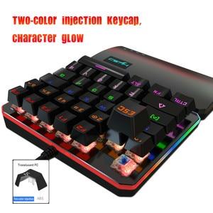 Image 4 - Mechanical Keyboard Standard Mini Wired Gaming RGB Backlit Key Board For Clavier Gamer Teclado Gamer 35 key USB Interface