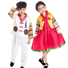 b97312c5c06d Colorful Kids Costume Traditional Korean Style Hanbok Dress for Girl  Performance Clothing Boy Asian Clothes National