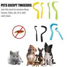 2PCS Pets Tick Removal Tool Dual Teeth Twister Cats Dogs Cleaning Supplies Comb
