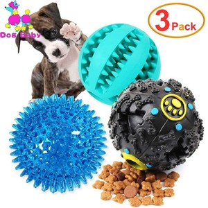 3Pack Dog Toy Interactive Rubber Balls Pet Dog Cat Puppy Elasticity Teeth Ball Dog Chew Toys Tooth Cleaning Balls Toy