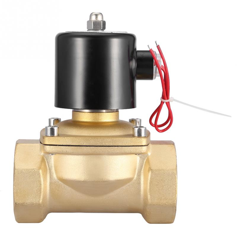 DN50 220V Solenoid Valve 2in Two Way Brass Electric solenoid valve Normally Closed 220VAC Best Price