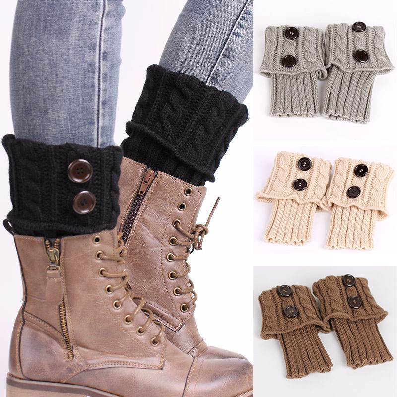 Winter Fashion Knitted Leg Warmers Crochet Boot Cuffs Knit Toppers Boot Socks Leg Warmers for Women Girls Hot