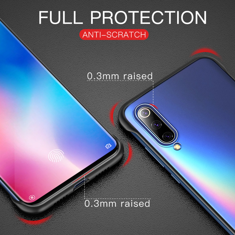 Msvii Frameless Case For Xiaomi Mi 9 Case Transparent Coque For Mi9 Case Silicone For Mi 9 SE  Funda Luxury Capa Bumper