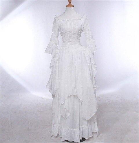 Fashion Loose Women Gothic Dress Female Princess Flare Sleeve Pullover Long Dress Elegant Off Shoulder Party Plus Size Dresses 3
