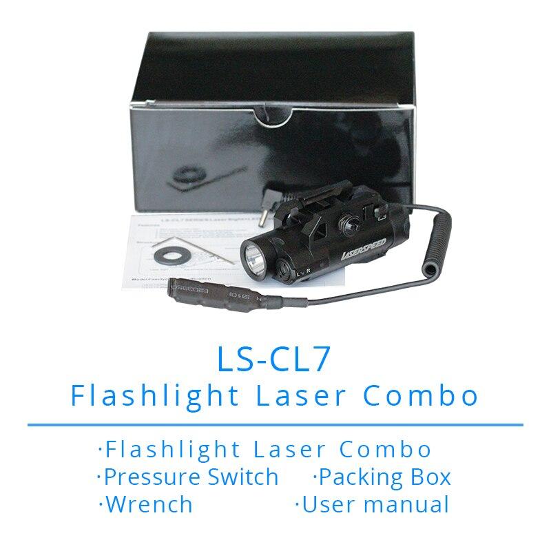 ls cl7 compacto laser luz combinacao pistola laser 04