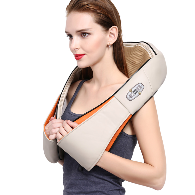 Neck Massage Shawl Shiatsu Kneading Massager Cervical Neck Shoulder Back Waist Body Massage Car Home Use