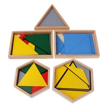 Educational Montessori Geometry Triangles Constructive Building Puzzle Game Mathematics Intellectual Development Toy for Kids