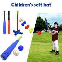 Kinder Weiche Bat Kinder Schaum T-Ball Baseball Set Spielzeug 8 Verschiedene Farbige Bälle Sind Organisieren Tasche Für jungen Über 1 Jahre Alt