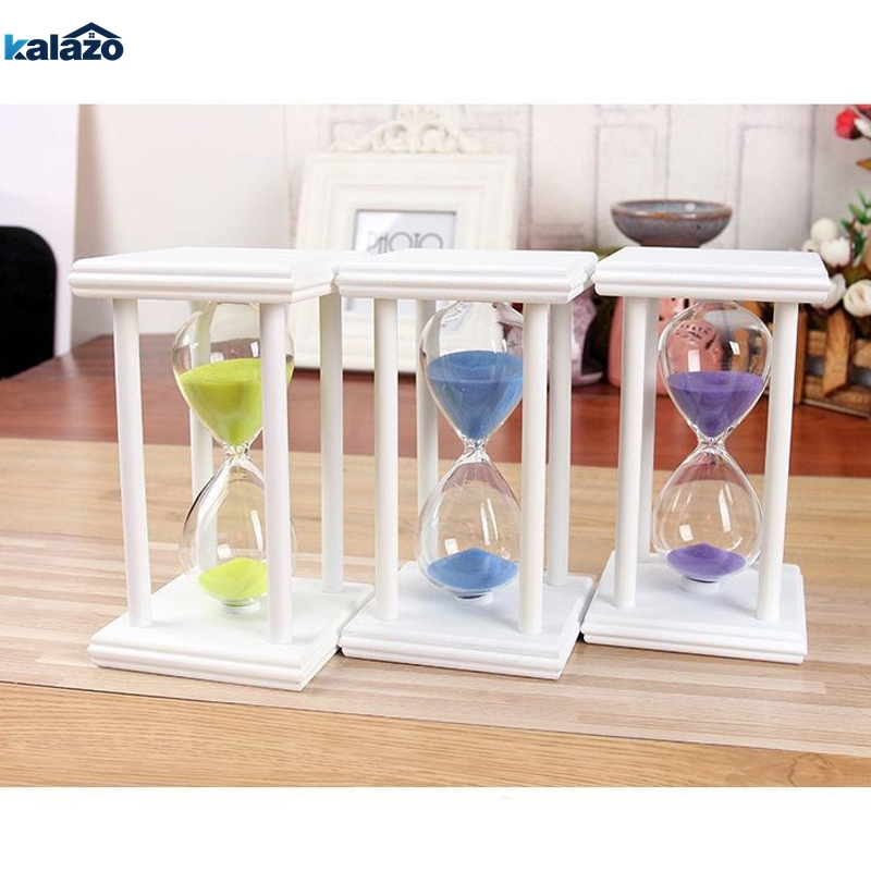 Morden 5 Minute Wooden Sand Sandglass Hourglass Timer Clock Home Decor XMAS Gift