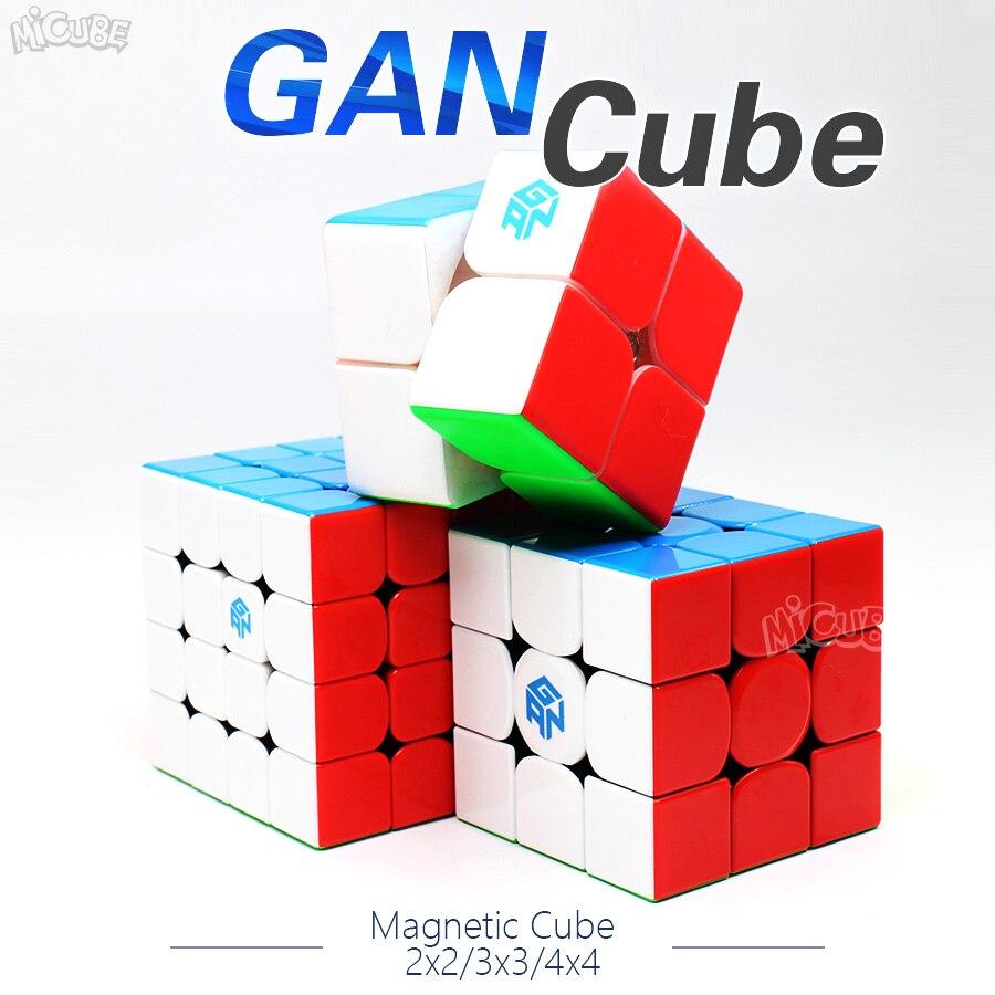 Gan Cubo de Velocidade Cubo Mágico Magnético 2x2x2 3x3x3 4x4x4 GAN 356 Ar SM 354M 460M 249 v2 M 356x Stikerelss Magnetc