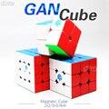 Cubo mágico de la velocidad del cubo magnético Gan 2x2 3x3x3 4x4x4 GAN 356 SM 354 M 460 M 249 v2 M 356x Stikerelss Magnetc