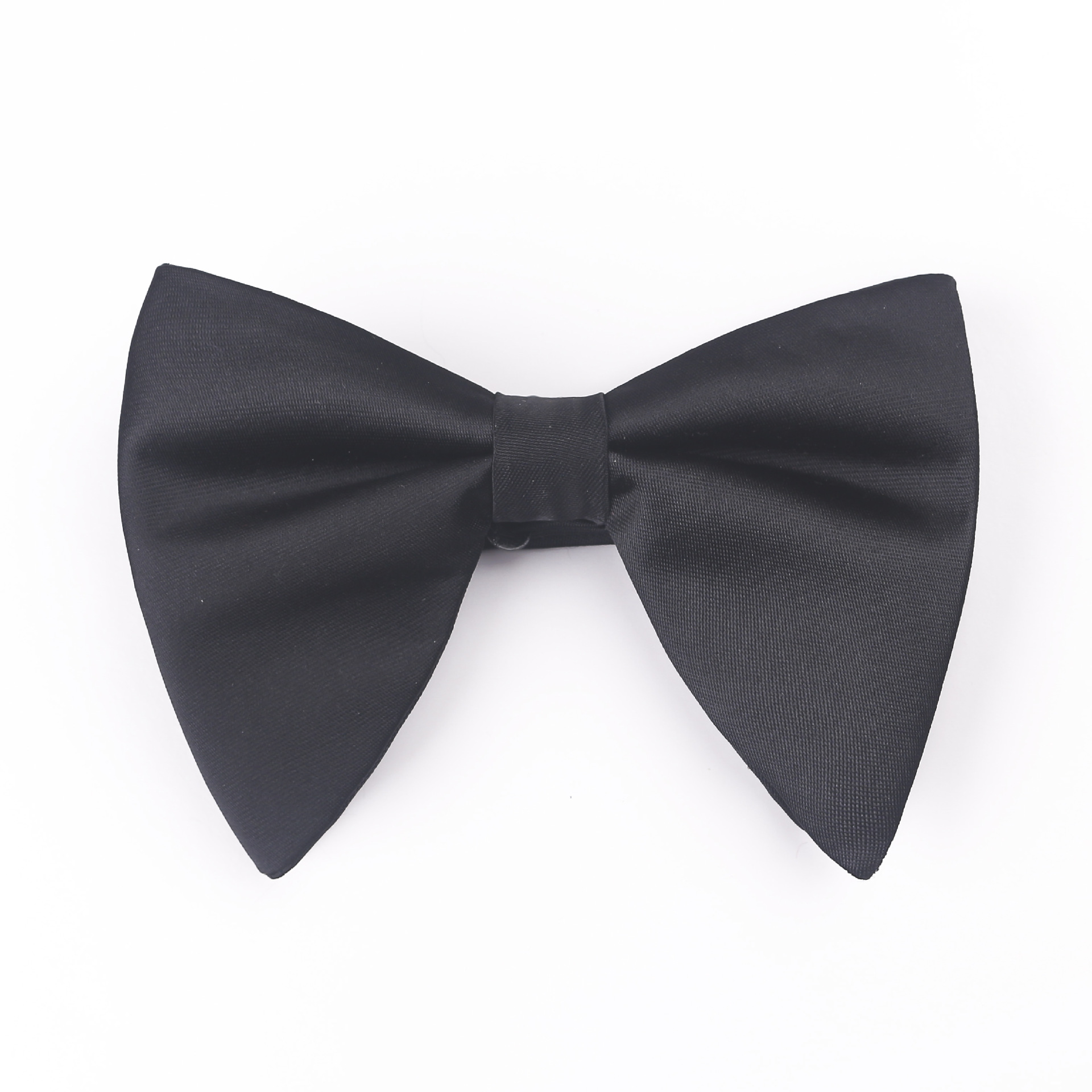 Men's Evening Dress Tuxedo Bow Tie Gentleman Dress Wedding Bridegroom Groomsman Collar Flower Solid Color Satin Bow Tie Men