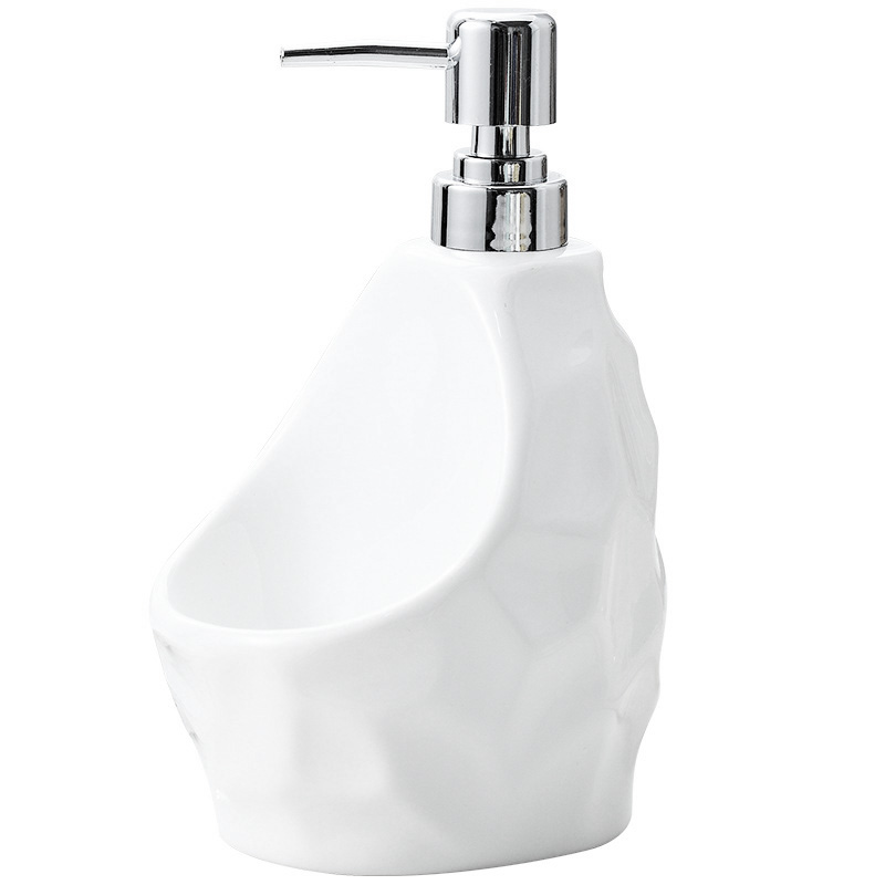 Bathroom Fixtures Shgo Hot-650lml Liquid Soap Dispenser For Kitchen Ceramic+plastic Bathroom Home Decoration Bathroom Accessories White Convenience Goods