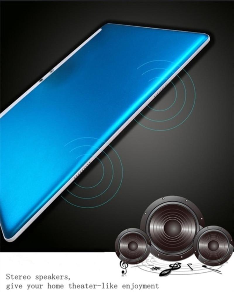10.1 pouces 2.5D écran 3G 4G LTE double carte SIM tablette Octa Core 8GB RAM 128GB ROM Android 9.0 tablettes Wifi GPS FM - 5