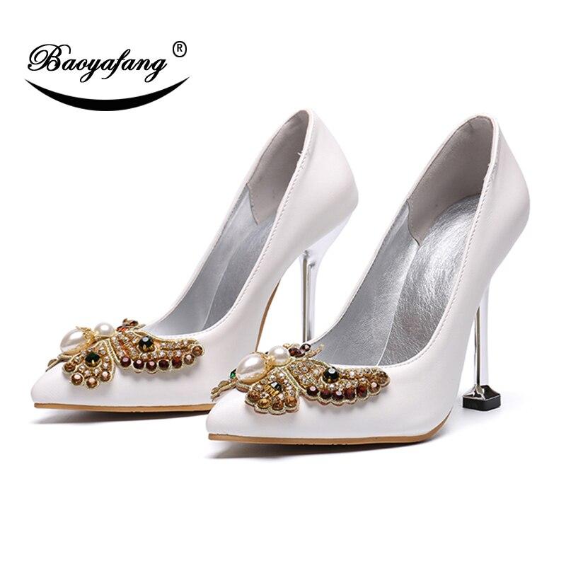 Da Super Big Pompe 11cm tacchi Shoe Punta Baoyafang Metallo 43 Pompa In Donna A Tacco Size Alti Singolo Scarpe Sottile Sposa 68wdHwq7