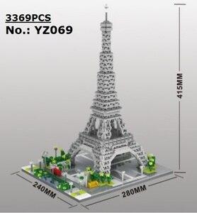 YZ Mini Blocks Architecture Pisa World landmark Building Bricks Louvre Kids toys Eiffel Tower Model Castle for Children Gifts
