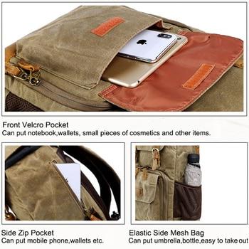 Camera Bag Batik Canvas Waterproof Photography Bag Outdoor Wear-resistant Large Camera Photo Lens Backpack for Canon/ Sony/Nikon 5