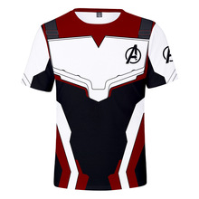Marvel Movie Avengers Endgame Short Sleeve T Shirt Quantum Warfare Men/Women 3 End game Iron Man shirt Summer Tops