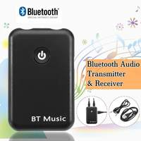 2 In 1 Portable Wireless Bluetooth Stereo 3.5mm Audio Transmitter   Receiver   Adapter For Home Car   TV   DVD MP3 PC Sound System