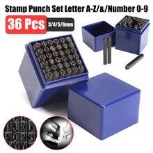 36PCS 3mm Carbon Steel Number