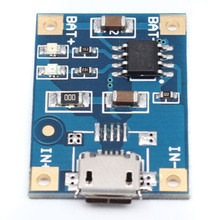 10pcs/lot Micro USB 4.2V TP4056 1A Lithium Battery Charger Module Charging Board With Protection Dual Functions Li-ion
