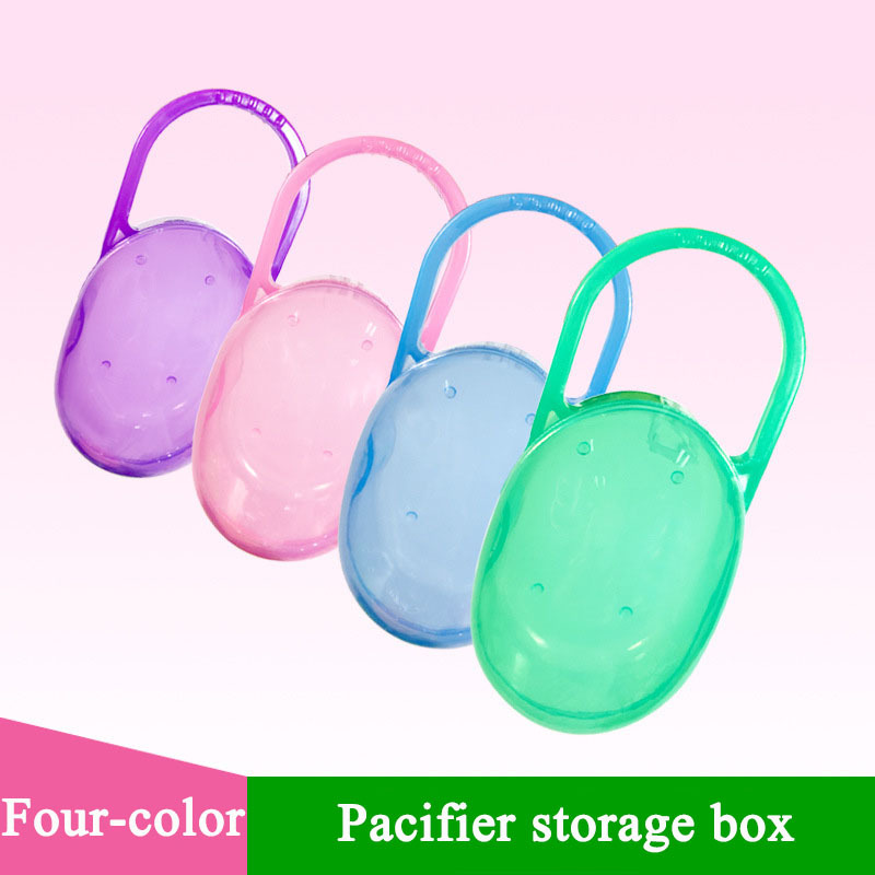 Soild Portable Baby Pacifier Nipple Box Cradle Case Holder Travel Storage Box Baby Accessories For 4 Colors