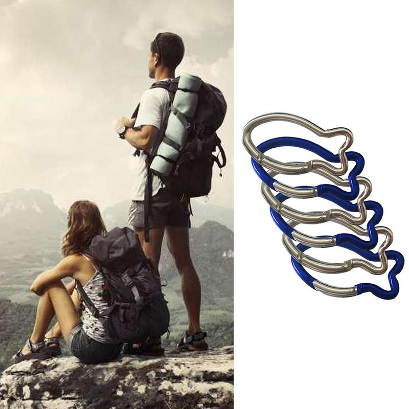 Fish-Shaped Carabiner Outdoor Safety Fast Hanging Shaped Custom Mountain Climbing Buckle Carabiner Snap Clip Hooks Keychain