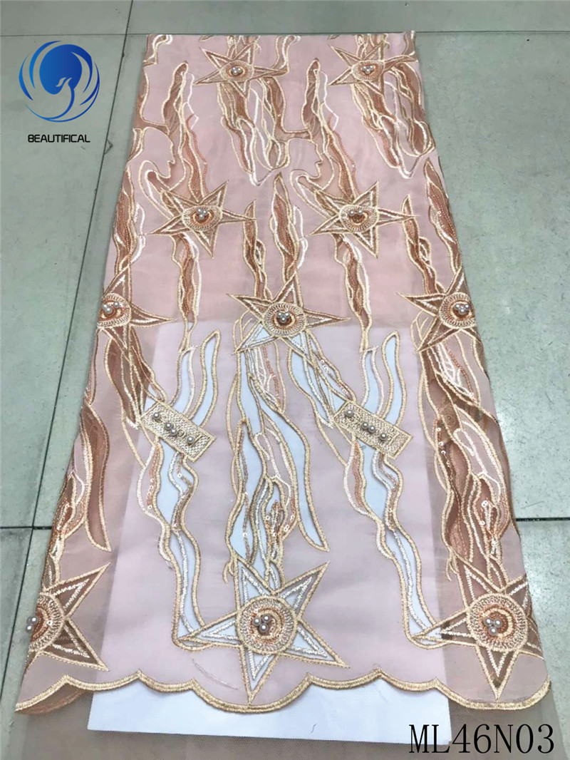 BEAUTIFICAL lace dress material 2019 african lace fabric handmade beaded lace fabric guangzhou free shipping 5yards/lot ML46N03BEAUTIFICAL lace dress material 2019 african lace fabric handmade beaded lace fabric guangzhou free shipping 5yards/lot ML46N03