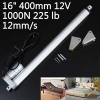 8/16 Electric Linear Actuator 12V DC Motor 200mm Stroke Linear motor Controller 1000N 225 LB Aluminum