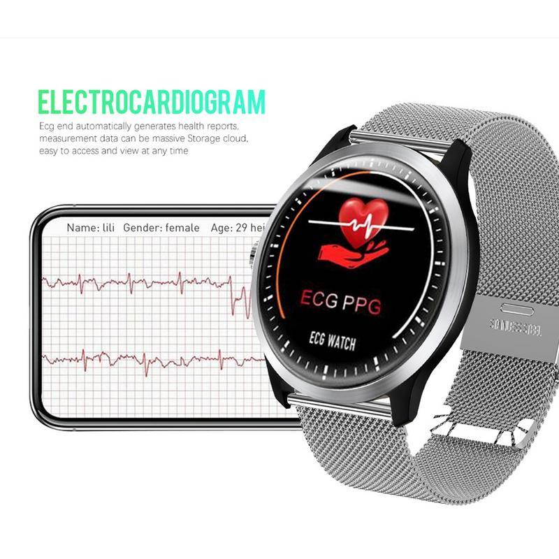 Новый N58 IP67 ЭКГ PPG Смарт часы с электрокардиограф ЭКГ Дисплей ЭКГ вариабельности сердечного ритма отчет сердечного ритма крови Давление мон...