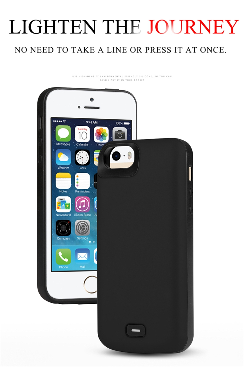 5ab933498dd For iPhone SE 5SE 5 5S Battery Charger Case 4000mAh Power Bank Rechargeable  Extended Battery Charging Case Cover For iPhone 5S