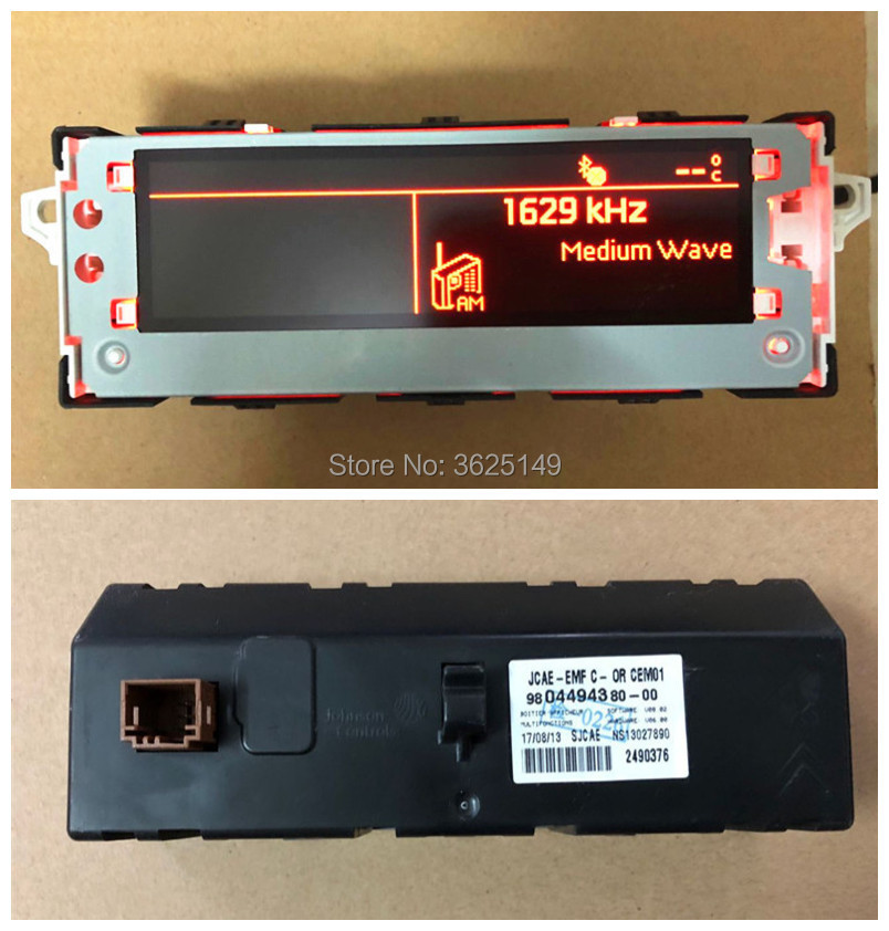 Original Red Screen Support USB Bluetooth Display Monitor 6pin For Peugeot 301 308 408 508 Citroen C4L