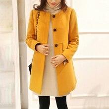 3afeaefbb027b 5XL Plus size Winter Princess Trendy o neck jacket elegant Women Lady  Outwear Wool Blends Warm