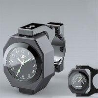 Universal Waterproof 7/8 Motorcycle Bike Handlebar Mount Clock Watch Luminous Clock with Waterproof Temp Thermometer