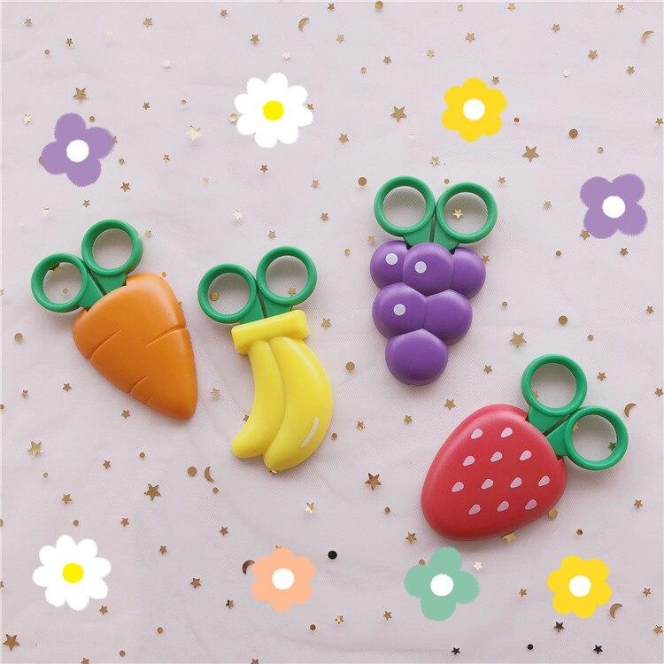 SIXONE Originality Fruits Modeling Scissors With Magnet Refrigerator Subsidies Hand Account Portable Art Designer Small Scissors
