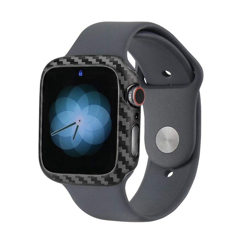 Protective Case For Apple Watch Series 4 40mm 44mm Genuine Carbon Fiber Watch Cover For Apple iWatch Series 4 Frame Housing in Watchbands from Watches