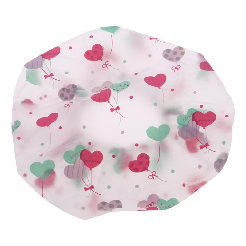 10pcs Women Waterproof Shower Bath Cap Hat With Bear Bowknot Balloon Cherry Design For Adult Hair Styling Tools A Plastic Case Is Compartmentalized For Safe Storage Caps, Foils & Wraps