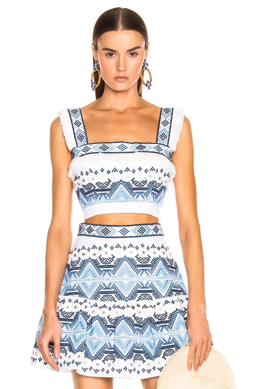 Nuevo conjunto de 2 piezas de moda para mujer top y mini falda borla y bordado-in Conjuntos de mujer from Ropa de mujer    1