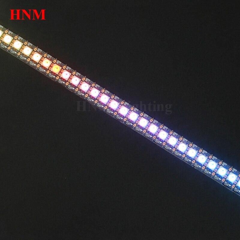 2 M 144 LED s/m WS2815 LED bande 12 V 5050 SMD RGB Pixel bande Flexible lumière numérique LED Ambilight TV, blanc/noir PCB, IP20/IP65/IP67
